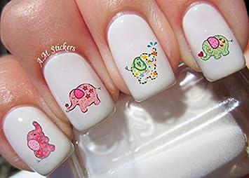 Amazon.com: Pegatinas para uñas, diseño de elefante de bebé ...