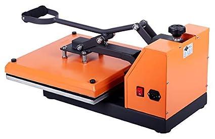RICOO Pressa a Caldo Macchina T138-GS Transfer per T-Shirt Maglietta//Arancione