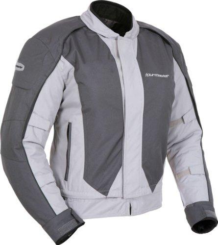 Tourmaster 'Flex Series 3' Mens Silver/Gunmetal Mesh/Textile Jacket - Small