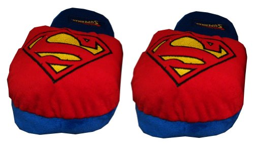 DC Comics mens Superman Scuff Slippers Large for $<!--$18.99-->