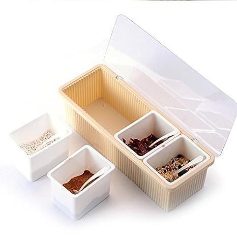 c6ca45a2a81 Buy Probity Plastic Seasoning Box Kitchen Masala Box Kitchen Seasoning Jar Spice  Rack Seasoning Set Pepper Salt Spice Rack Online at Low Prices in India ...