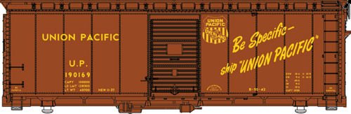 Walthers HO Scale 40' AAR Modified 1937 Boxcar Union Pacific/Be Specific #190169 (Modified 40' Aar Boxcar)