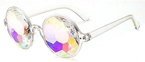 Globalflashdeal Kaleidoscope Glasses Rave Festival Party Sunglasses Diffracted Lens-Transparent