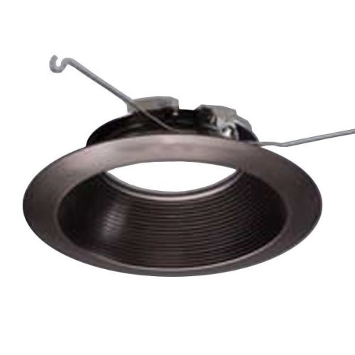 Halo 693TBZB - 6 in. - Tuscan Bronze Trim with Micro-Step Baffle - Fits Halo LED Downlight Modules