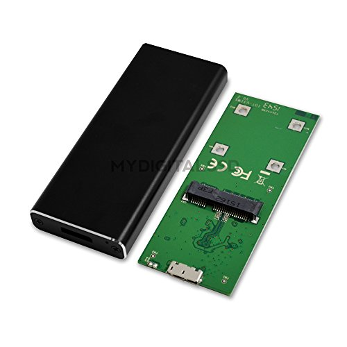 MyDigitalSSD Bullet Proof USB 3.1 mSATA SSD Enclosure Adapter - Supports UASP - MDMS-BP-USB3