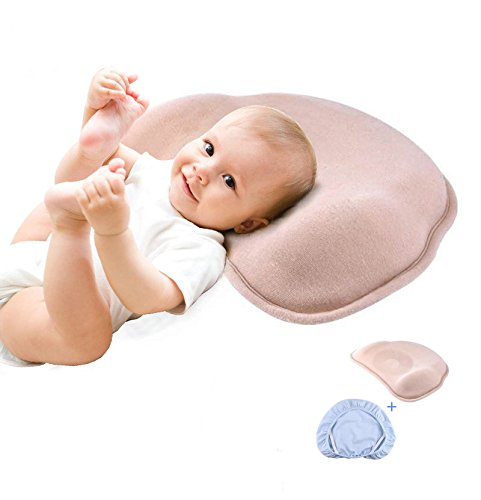 Health Nursery Baby Pillow Soft Newborn Pillow, Breathable Organic Cotton Shell, Design for 0-8 Month Baby. (Foam Nursing Pillow)