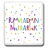 3dRose lsp_202099_2 Ramadan Mubarak - Blessing for The Start Of Muslim Fasting Festival - Double Toggle Switch