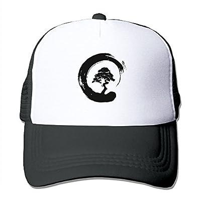 MarthaStill Bonsai Tree Japanese Yin Yang Mesh Mens Funny Trucker Baseball Hat