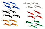 key size bottle opener - Bottle Opener Keychain - 24-Pack Heavy Duty Metal Key Chains with Beer Bottle Opener. Pocket Size Small Bar Claw Beverage Key Rings, 6 Assorted Colors