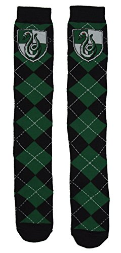 Harry Potter Slytherin School Uniform Knee High Socks - Slytherin Quidditch Uniform