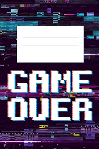 Thick Composition Book With Pixelated Cover For Gamers, Coders, Kids Back To School Supplies, Teenagers, Adults (120 Pages) (Gag Gifts) (Twitch T Shirt)