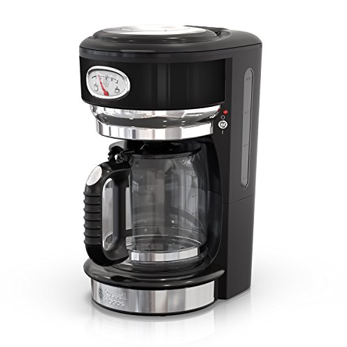 Russell Hobbs CM3100BKR Retro Style Coffeemaker, 8-Cup, Black