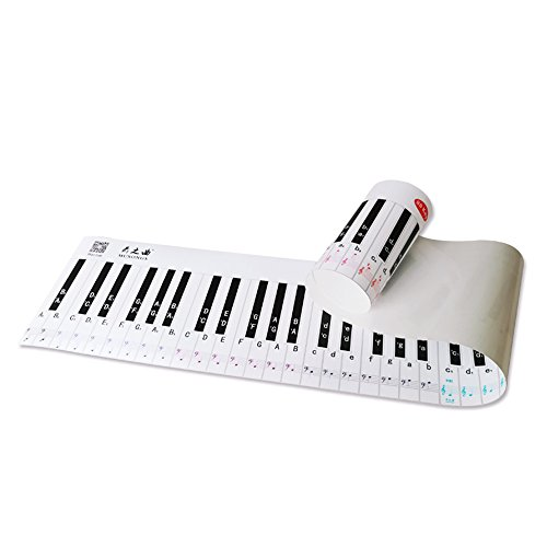 ammoon International Version 88 Key Keyboard Piano Finger Simulation Practice Guide Teaching Aid Note Chart for Beginner Student ()
