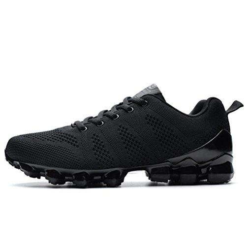 Scarpe da uomo scarpe da calcio invernale autunno inverno scarpe da calcio Scarpe sportivi respirabili da allenamento , Black , 39
