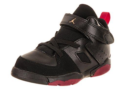 Jordan Nike Toddlers FLTCLB '91 BT Black/Dandelion Varsity Red Basketball Shoe 9 Infants US