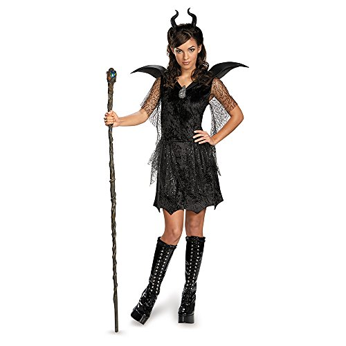 Disney Maleficent Movie Black Gown Tween Deluxe Costume, Medium/7-8