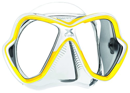 Mares X-Vision 14 Scuba Diving Silicone Mask, Yellow/White/Clear
