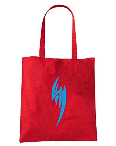T-Shirtshock - Bolsa para la compra FUN0467 2308 tribal sticker design 40 45626 Rojo