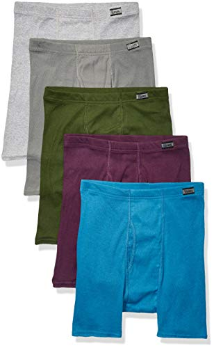 (Hanes Men`s TAGLESS Boxer Briefs with ComfortSoft Waistband,7460Z5,XL,Assorted(5-pack))