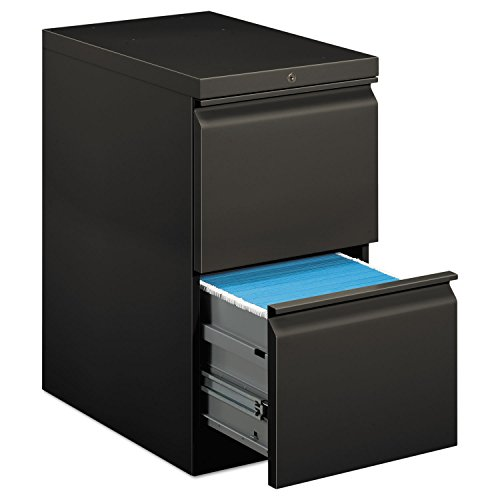 HON COMPANY * Efficiencies Mobile Pedestal File w/Two File Drawers, 22-7/8d, Charcoal, Sold as 1 Each