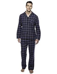 Noble Mount Men's Premium 100% Cotton Flannel Pajama Sleepwear Set