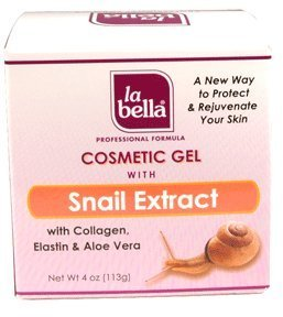 La Bella Cosmetic Gel with Snail Extract, 4 Ounce (Snail Extract)