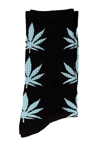 Hierba Calcetines Marihuana cannabis hojas unisex D12 Paquete de 3 - Multicolor, One Size