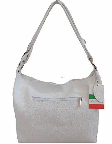 Leather Bag Carele Bianco Bottega White For Shoulder Women 5f6wq1Snx
