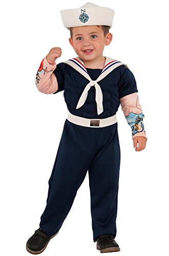 Rubie's Costume 630957-XS Child's Muscle Man Sailor Costume, X-Small, Multicolor (Pack of -