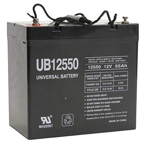 Universal Power Group UB12550 12V 55AH Internal Thread Battery for Wagan Tech EL2546 e-Cube 1500