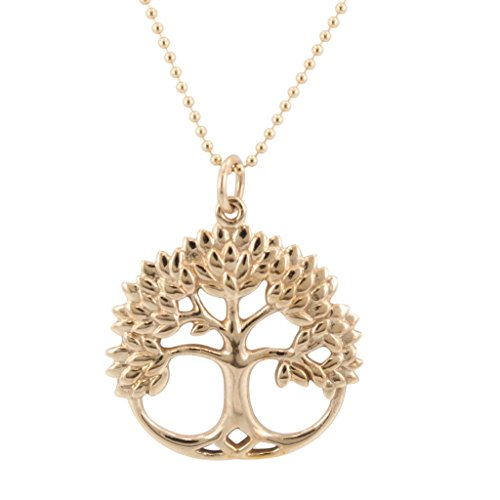 Zoe and Piper Pendants Tree of Life Necklaces in Bronze on an 18