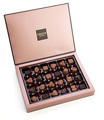 Melodi Chocolatier Assorted Chocolate Truffles Gift Box, Holiday Collection, Limited Edition, 24 Count, 8.8 Ounce