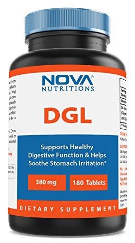 Nova Nutritions DGL Deglycyrrhizinated Licorice Root Extract 380 mg 180 Tablets