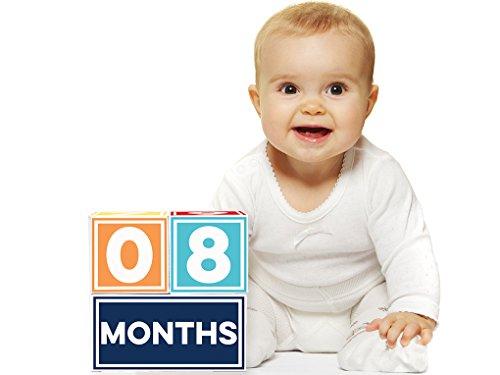 Blocks Baby Shower Boy (Sticky Bellies Brag Blocks- Baby Milestone Age Blocks for Photos - Neutral - Girls - Boys - 2 styles available (Boy))