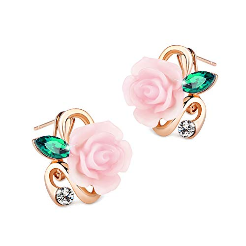 Earring Continental Stylish Retro Stereo Rose Ear Nail Earrings