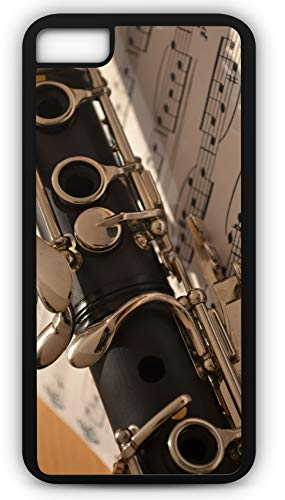 iPhone 8 Plus 8+ Case Clarinet Music Melody Woodwind Instrument Band Class Musical Customizable by TYD Designs in Black Plastic