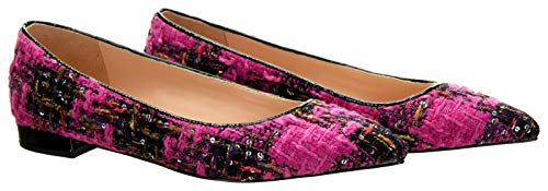 Used, J Crew Women's Pointed-Toe Flats Tweed Ballet Flats for sale  Delivered anywhere in USA