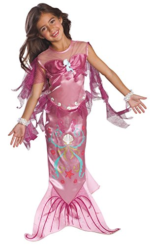 Fragile Box Halloween Costume (Let's Pretend Pink Mermaid Costume,Medium)