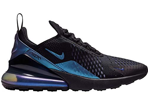 Nike Men's Air Max 270 Black/Laser Fuchsia/Regency Purple Mesh Running Shoes 10 M US