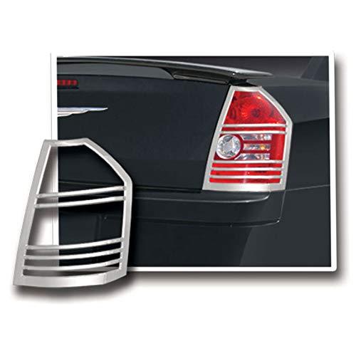 Tail Light Bezels for 2008-2010 Chrysler 300/300C [Chrome] Premium FX ()