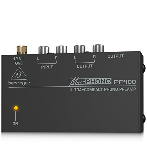 (Behringer Microphono PP400 Ultra-Compact Phono)