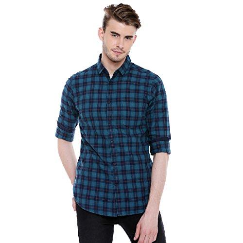 Dennis Lingo Men's Checkered Slim Fit Casual Shirt