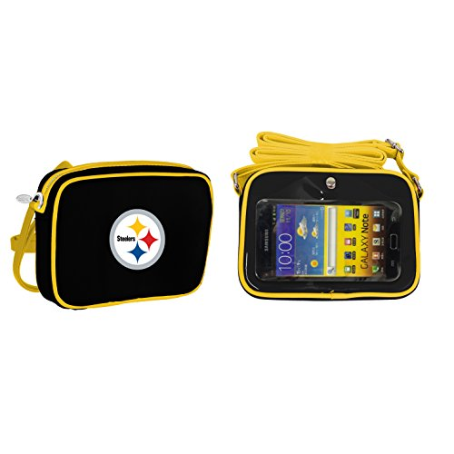 (NFL Pittsburgh Steelers Fashion Style Crossbody Purse- Embroidered Logo)