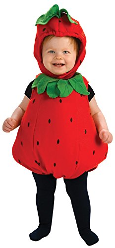 UHC Fruit Strawberry Comical Berry Cute Fancy Dress Infant Halloween Costume, 6-12M (Cute Scary Halloween Costumes)