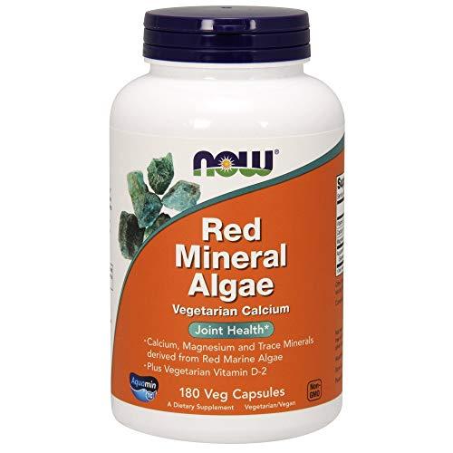 NOW Red Mineral Algae,180 Veg Capsules
