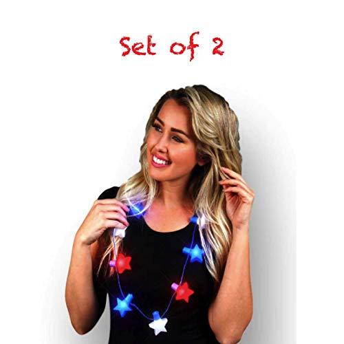 Blinky Lights Patriotic Flashing Stars String Lights