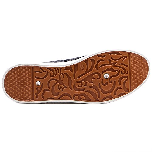 Tongpu Womens Respirant Slip Ons Casual Chaussures Plates Gris