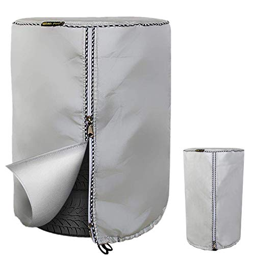 """Seasonal Tire Cover,Seasonal Tire Tote & Tire Storage Bag,Waterproof Dust-Proof (Silver Coated,Fits up to 32"""" Tires)"""