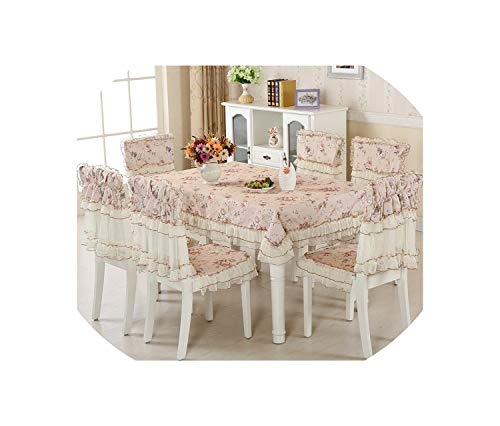 Europe 13 pcs/Set Tablecloths Chair Covers,Large Size Embroidery Table Cloth,Dining Chair Cover,Home Wedding Decor Tablecloth,Hua se 5 -