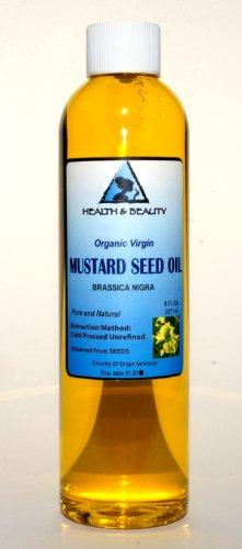 Mustard Oil Unrefined Organic Carrier Cold Pressed Pure 8 oz